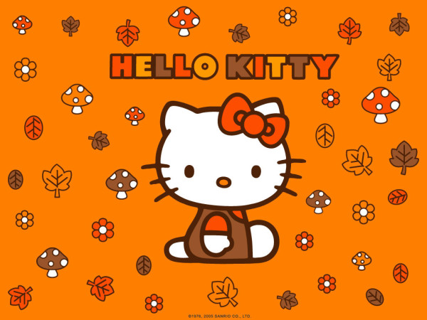 Hello Kitty Autumn wallpaper