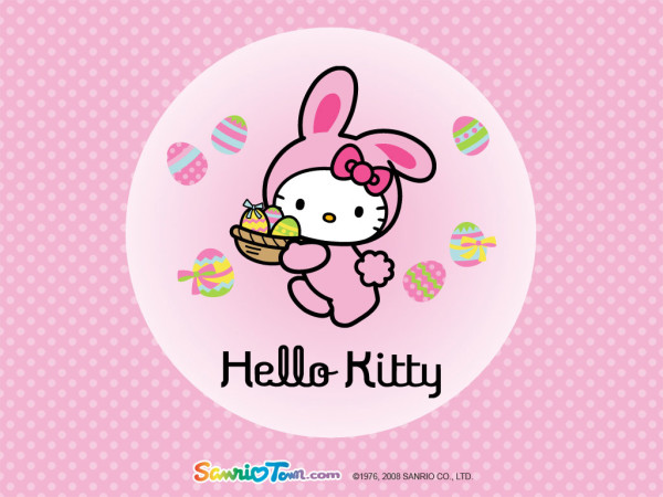 Hello Kitty Easter wallpaper