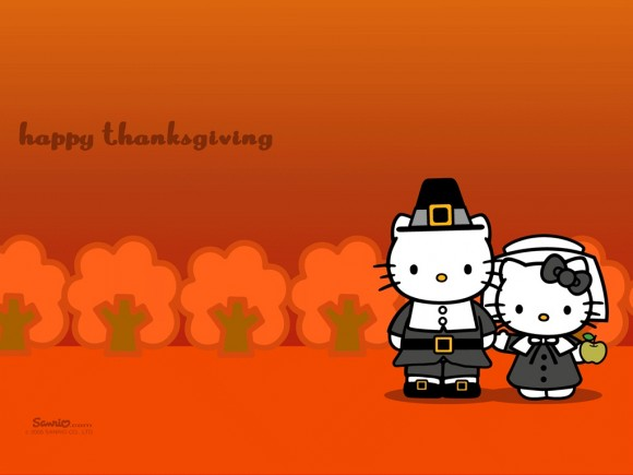 Hello Kitty Happy Thanksgiving Day Wallpaper
