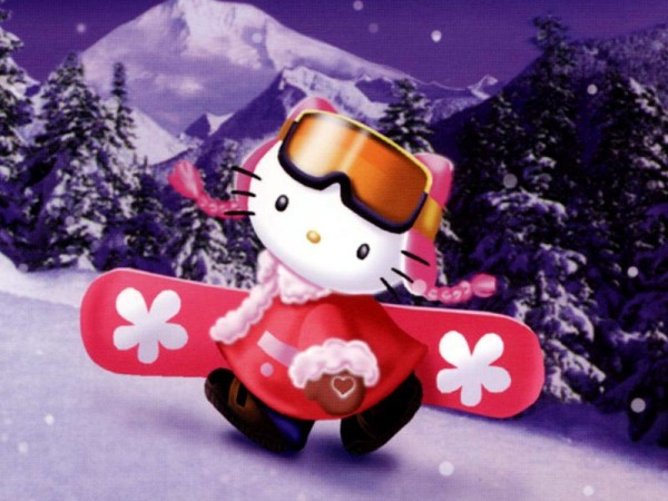 Hello Kitty Snow wallpaper