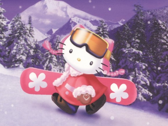 Hello Kitty Wallpapers: Skiing