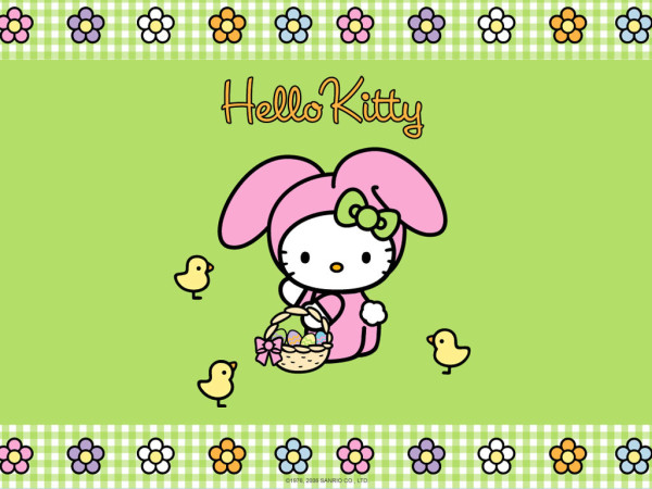 Hello Kitty green easter