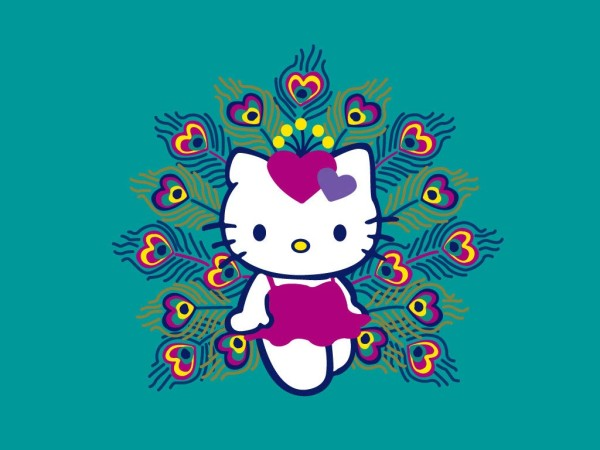 Hello Kitty wallpaper Peacock