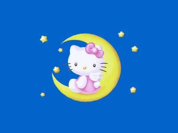 Hello Kitty wallpaper blue