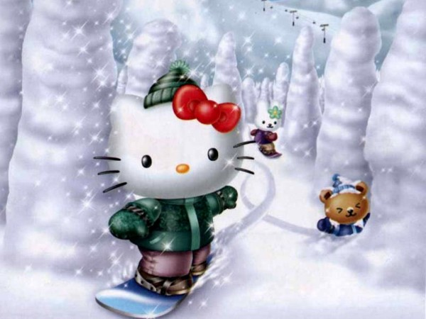 Hello Kitty winter wallpaper