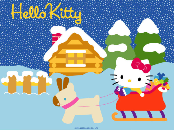Hello Kitty winter wallpapers