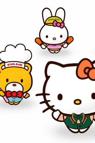 Kawaii White Background Hello Kitty Iphone Wallpaper