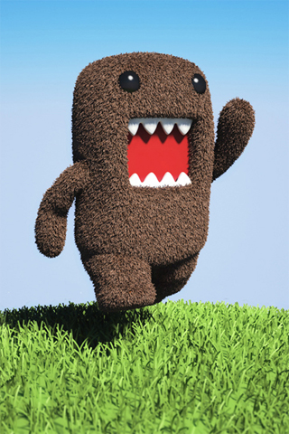Running DomoKun Iphone Wallpaper