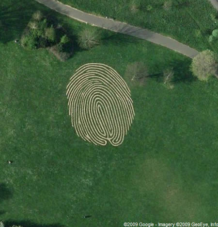 This fingerprint can be found in Hove Park, near Brighton and Hove in the UK.