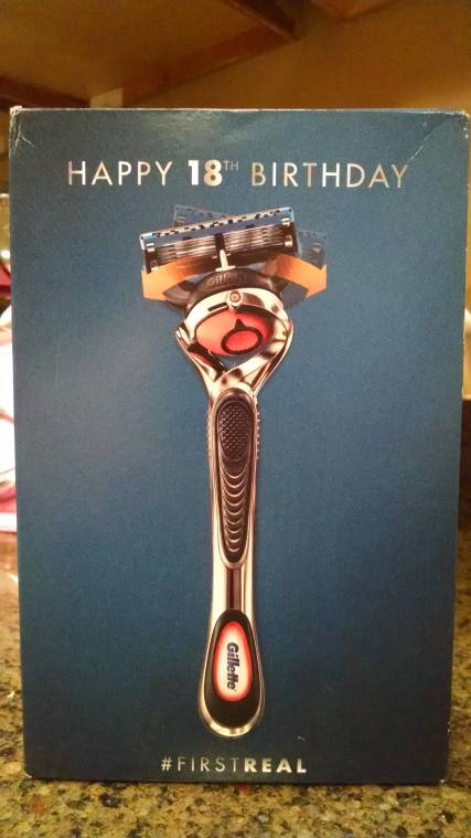 Gillette sent my son a razor for his 18th birthday