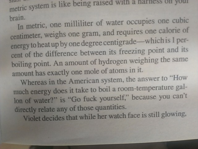 a comparison of the metric system versus the us system